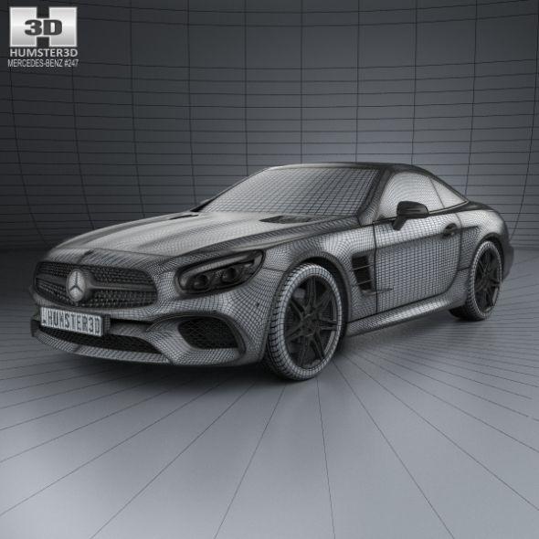 3d Model Mercedes Benz Glc Class C253 Coupe Amg Line 2016: Mercedes-Benz SL-Class (R231) 2015
