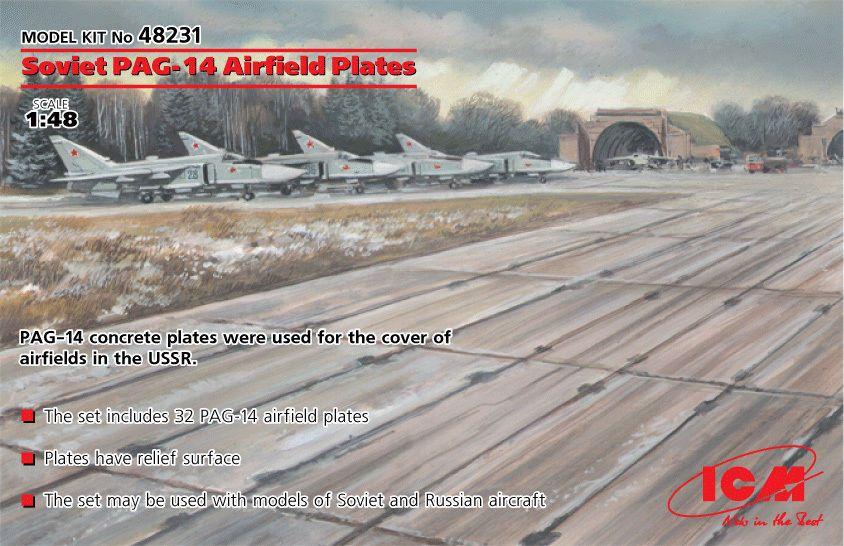 Soviet PAG-14 Airfield plates (32pcs) 1/72 ICM