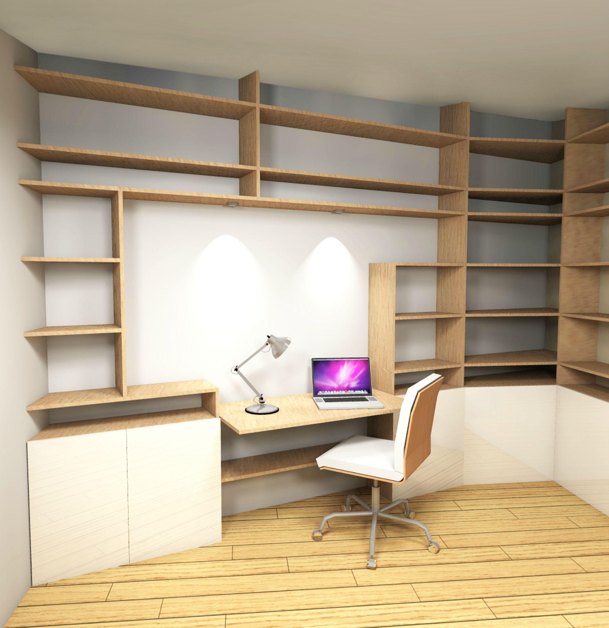 Conception espace bureau chambre ami stinside architecture d 39 int rieur bureau chambre - Chambre interieur ...