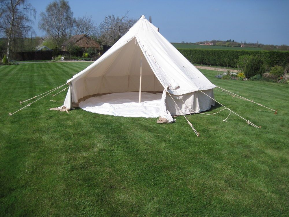 4 metre Canvas Bell Tent with pegs poles. : canvas tents ebay - memphite.com