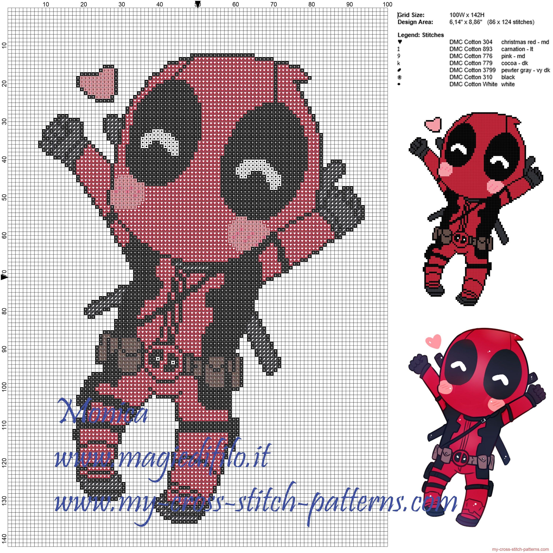 Deadpool Perler Bead Art By Caveofpixels Bugelperlen