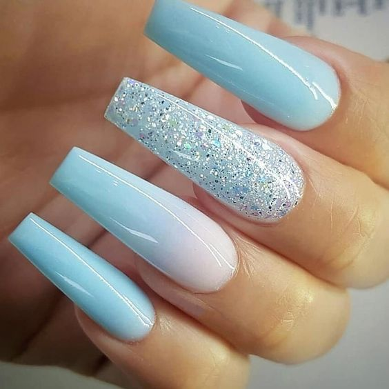 31 Trendy Summer Long Ombre Coffin Nails Ideas Pointed Nails Pretty Acrylic Nails Fake Nails
