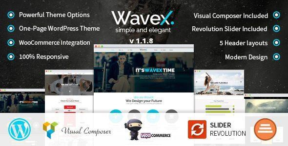 WaveX - One Page Parallax WordPress Theme | Pinterest