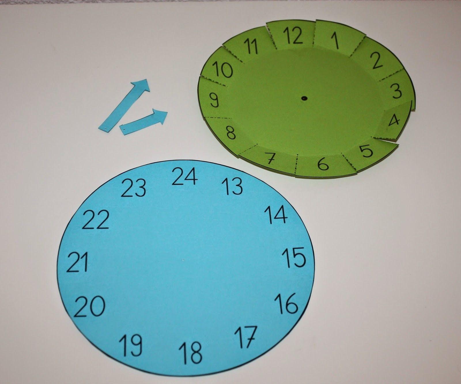 pin von bilyana raykova auf montessori materials self made mathe uhr uhrzeit lernen und mathe. Black Bedroom Furniture Sets. Home Design Ideas
