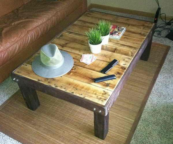 How To Make A Coffee Table Out Of A Wooden Pallet U2013 Easy Low Cost DIY
