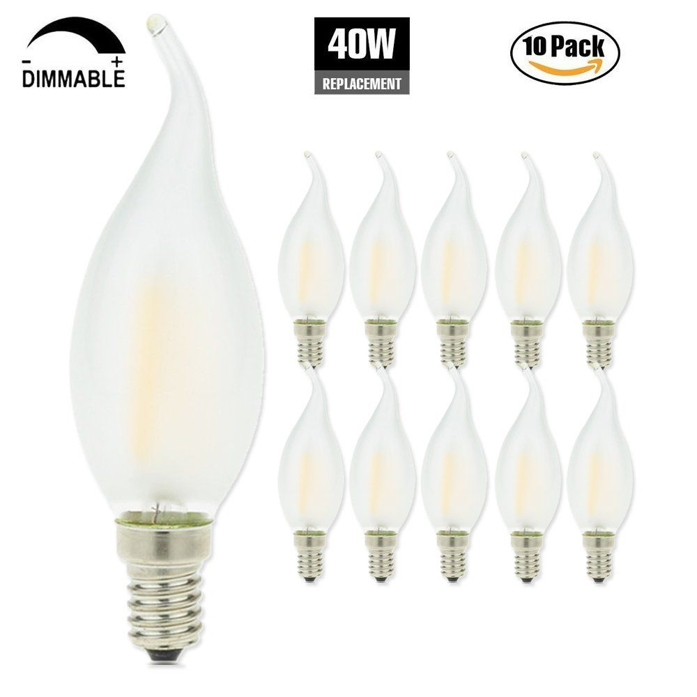 Frosted dimmable led candelabra bulbs 4w 2700k e12 base led frosted dimmable led candelabra bulbs 4w 2700k e12 base led filament chandelier light bulbs 40w arubaitofo Image collections