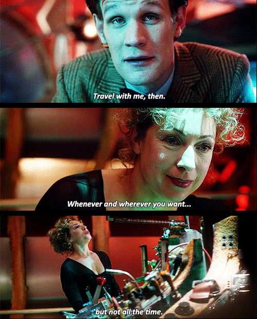River Song and Eleven. Doctor Who.