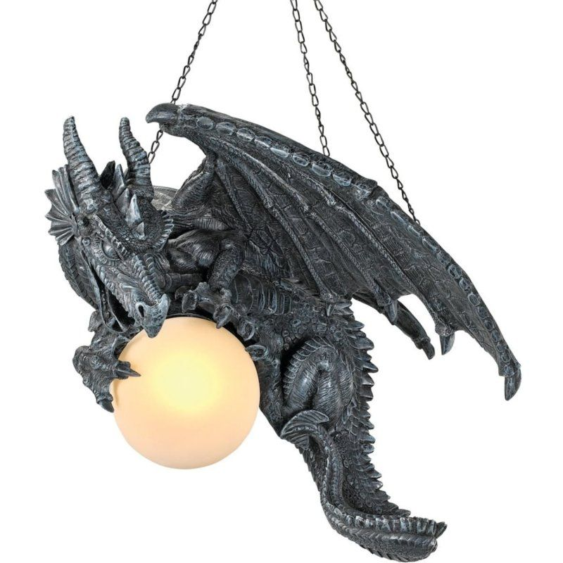 Medieval Twilight Dragon Ceiling Light Gothic Home Decor Products Displays