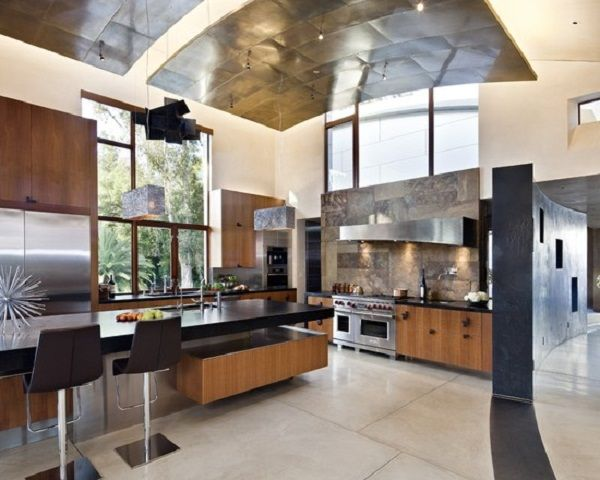 Customize Modern High Ceiling Kitchen Design Ideas