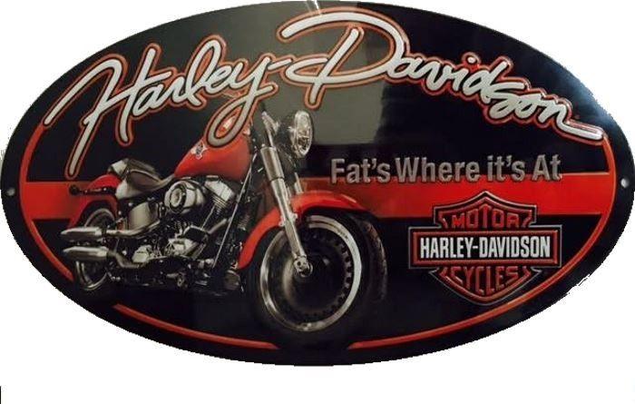 Harley davidson moto plaques vintages objets d co for Ouvrir son garage moto