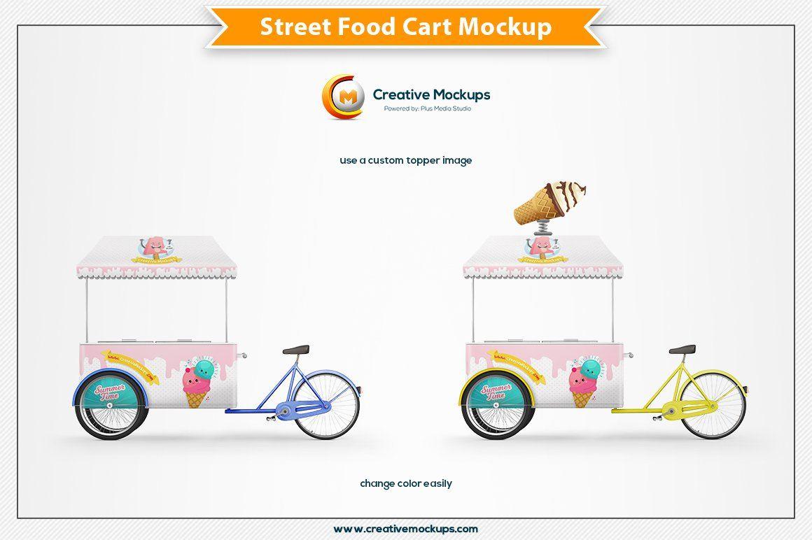Street Food Cart Mockup Ad , spon, workregularamazing