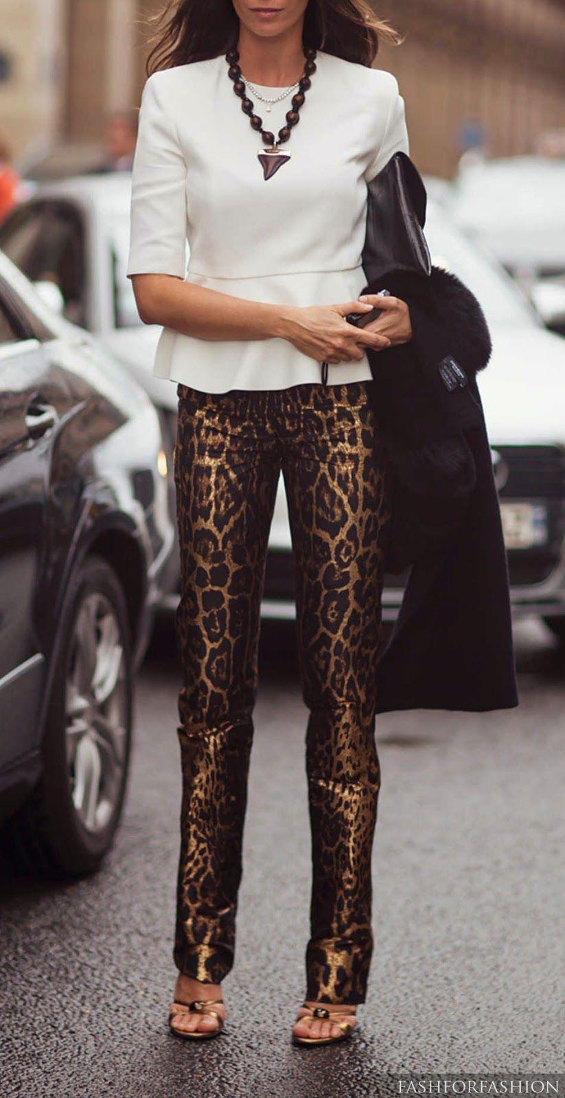 29d76daf843b STYLE INSPIRATIONS....Leopard Print Pants ♛ | Style, Beauty ...