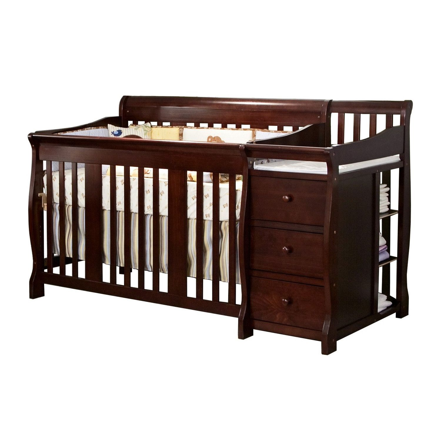 Crib Changing Table Dresser Combo Cribs Baby Toddler Bed Convertible Crib