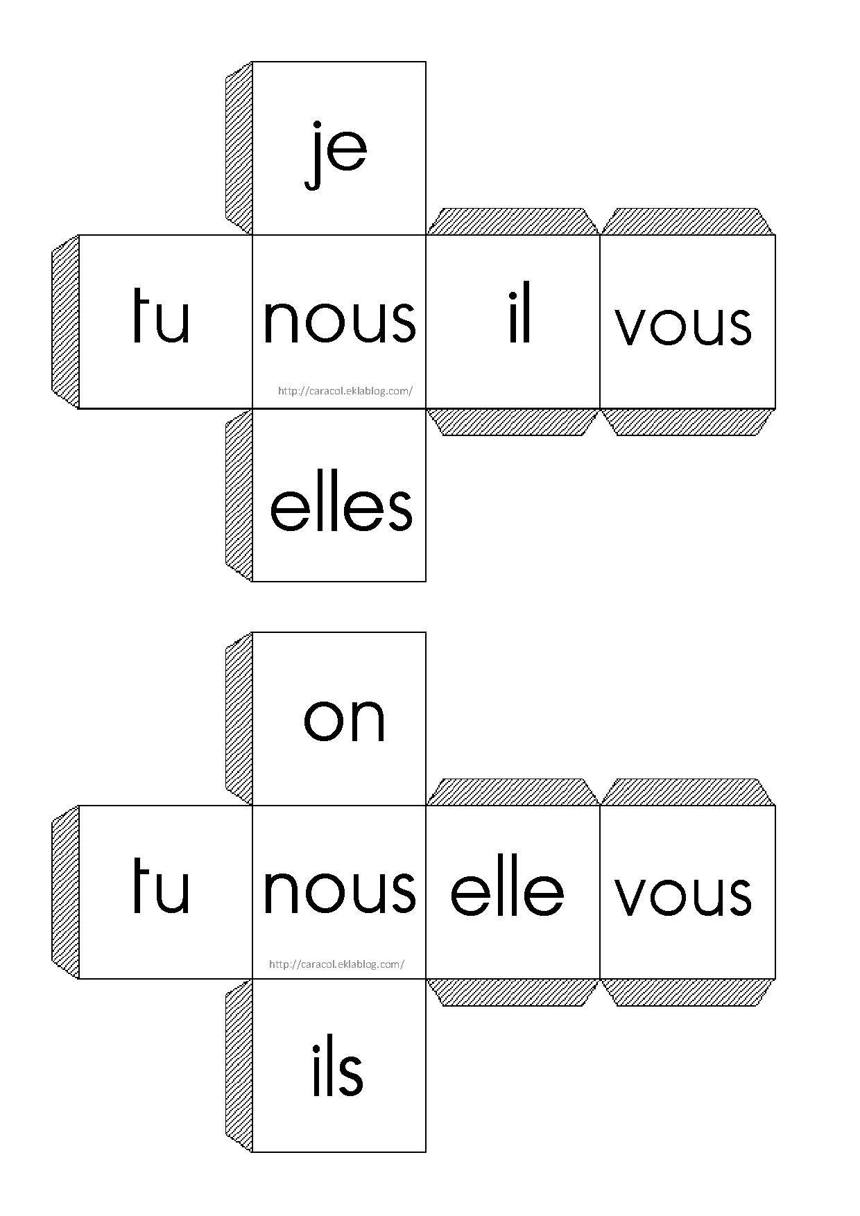 Les Pronoms Personnels Conjugating Verb Activities