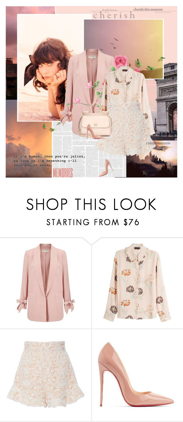 """""""From summer with love.."""" by rainie-minnie ❤ liked on Polyvore featuring Zooey, Miss Selfridge, Rochas, Alexis, Christian Louboutin and Dolce&Gabbana"""