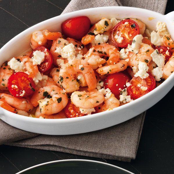Ofen-Shrimps mit Feta