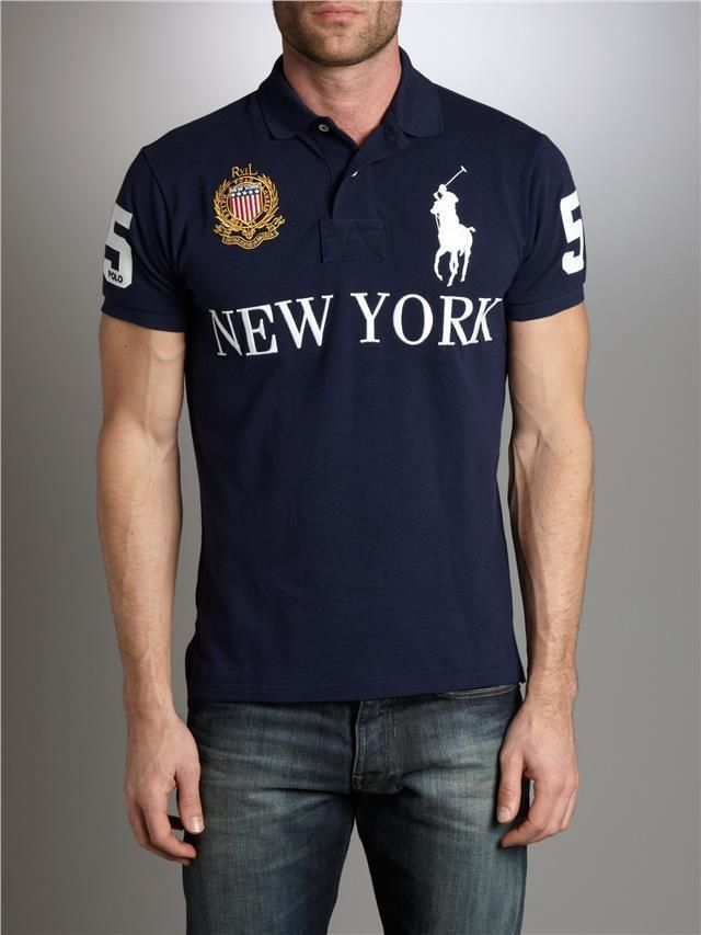 27b9ca39 Details about Polo Ralph Lauren Mens Polo Shirt New York USA Crest ...