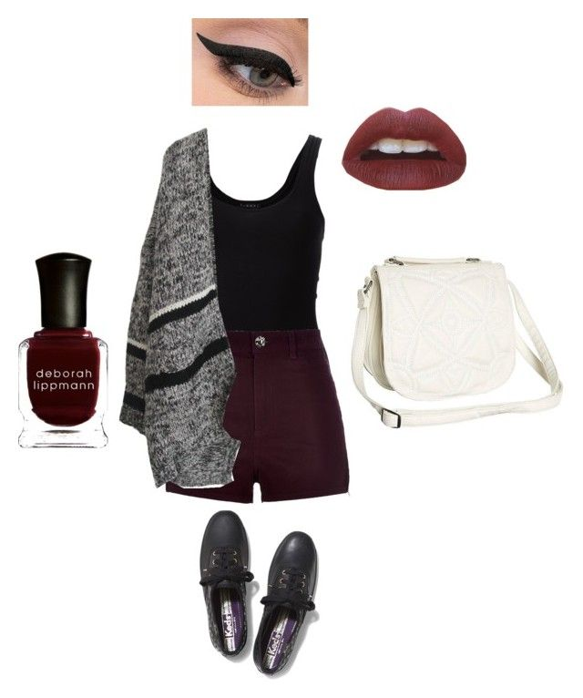 Dark Summer by toescape on Polyvore featuring Theory, River Island, Keds, Billabong, LORAC and Deborah Lippmann