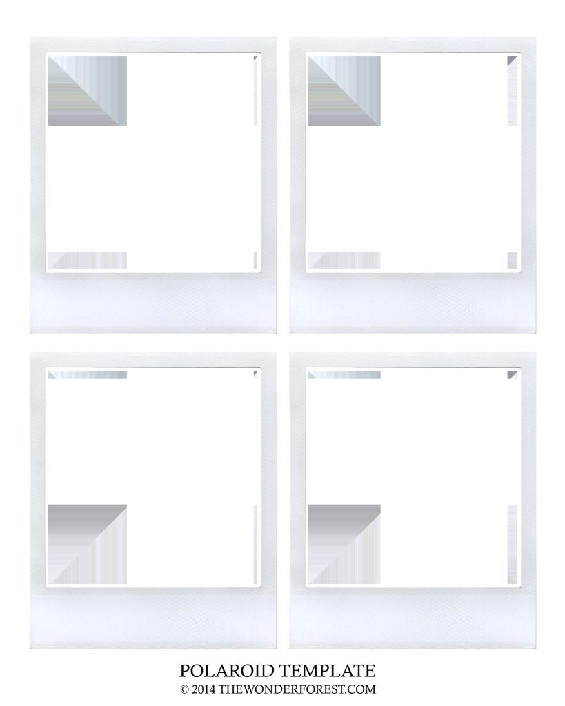wonderforest-polaroid-template.png - Box | diy polaroid | Pinterest | Box and Storage ideas