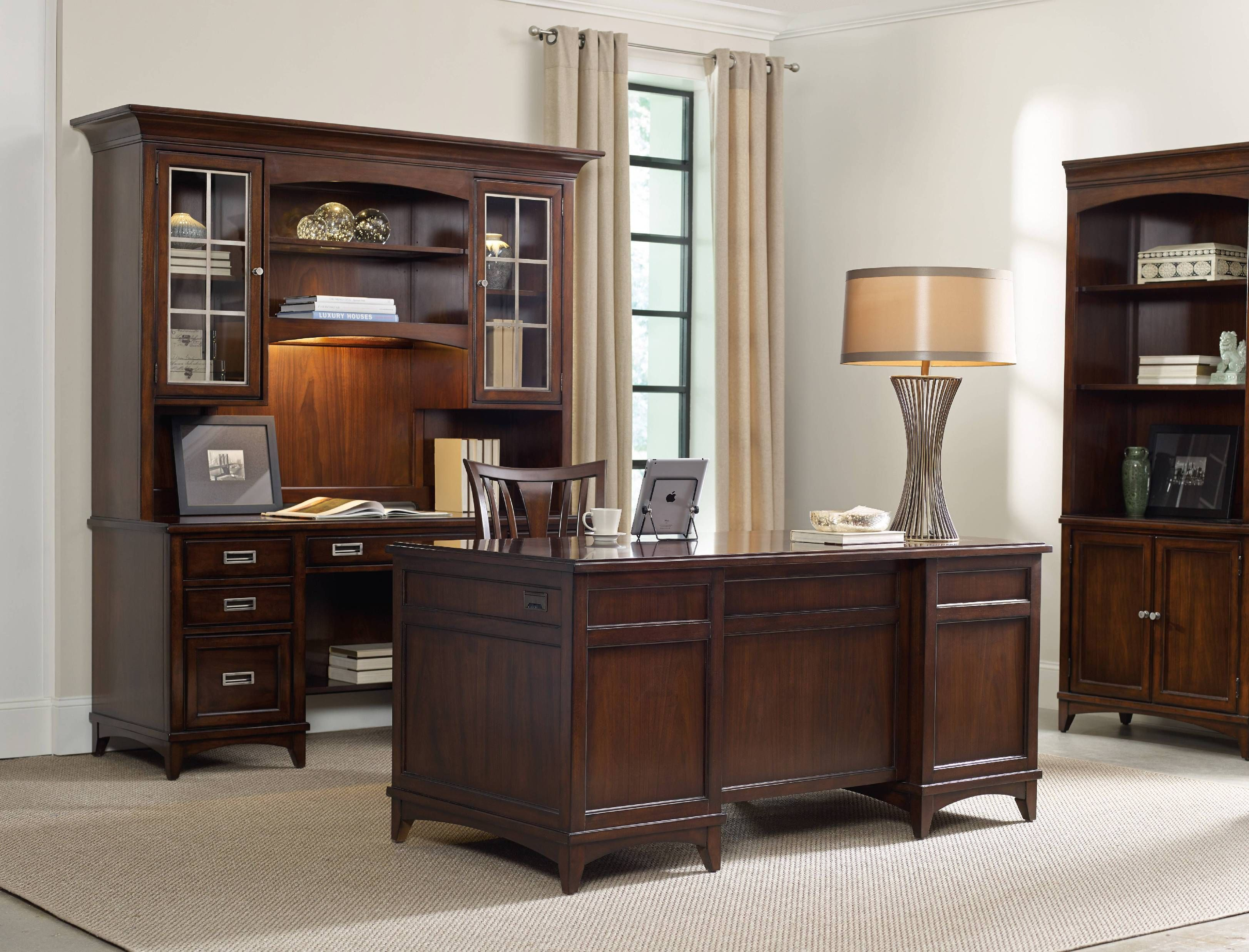 one of our favorite office collections designed by hooker furniture contemporary executive office set with bookcase luxurious office design set