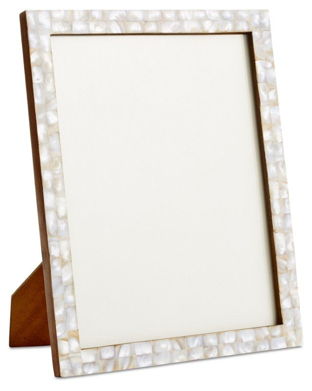Mother-of-Pearl Frame, White | Frames | Pinterest | Pearls and ...