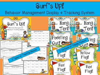 Surf's Up!  ULTIMATE Classroom Bundle- 7 Surf's Up! Decor, Signs, & Poster files #surfsup