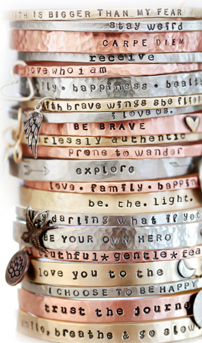f2e49bd620a1 Absolutely in Love with these inspirational bracelets!!   Bling in ...