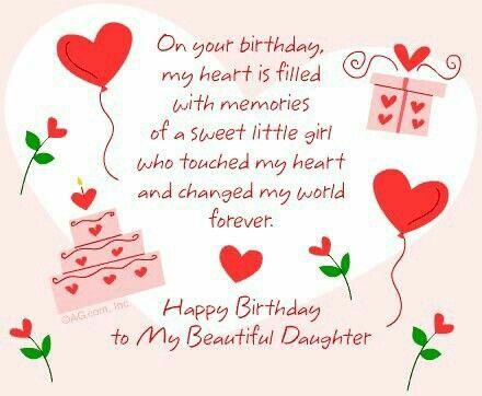 Happy Birthday To My Beautiful Daughter Happy Birthday Quotes