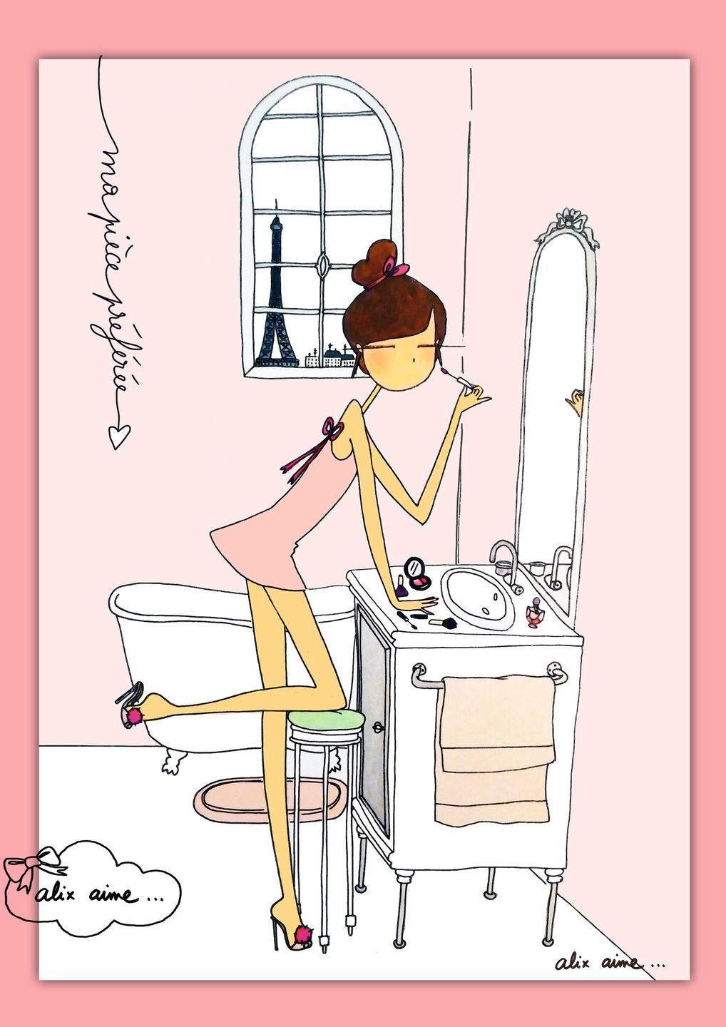 Illustration Ma Salle De Bain Drawings Artwork And Fashion - Dessiner ma salle de bain