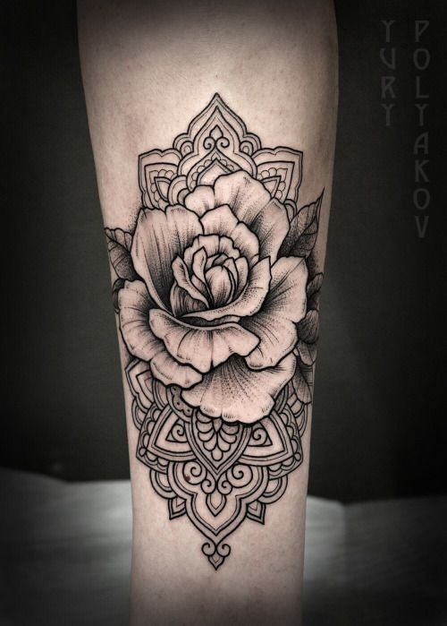 Rose Mandala Tattoo Tattoos Neck Tattoo Sleeve Tattoos