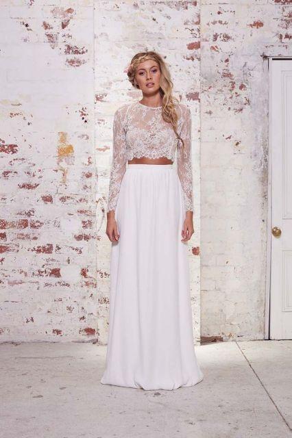 nice 40 Modische Schöne Crop Greatest Bridal Outfits #Bridal #Crop ...