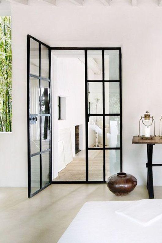 Door Black Steel Frame Window Panel With Door French Doors Interior Glass Doors Interior Home