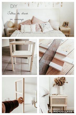 Photo of DIY : Mes tables de chevet en bois et cannage