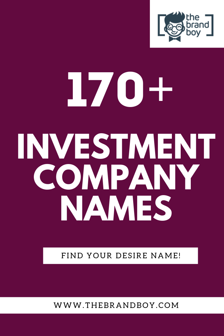 Creative investment company names non investment insurance mediation business