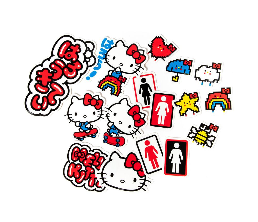 Girl Skateboards X Hello Kitty Sticker Pack Sanrio Hello Kitty Hello Kitty Art Cat Stickers