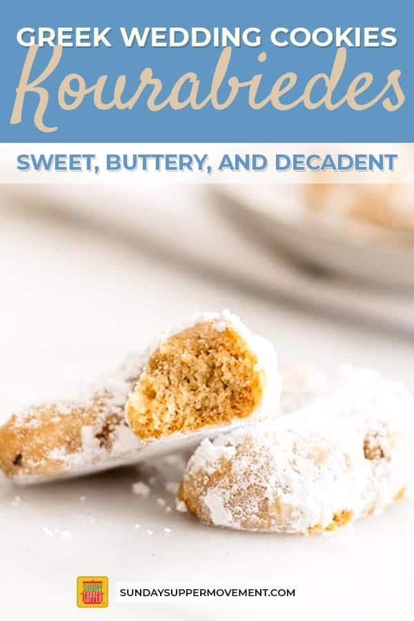 Cookies Add these decadent meltinyourmouth Greek wedding cookies to your mustbake list Buttery and sugarcoated with the subtle taste of toasted almonds these Kourabiedes...