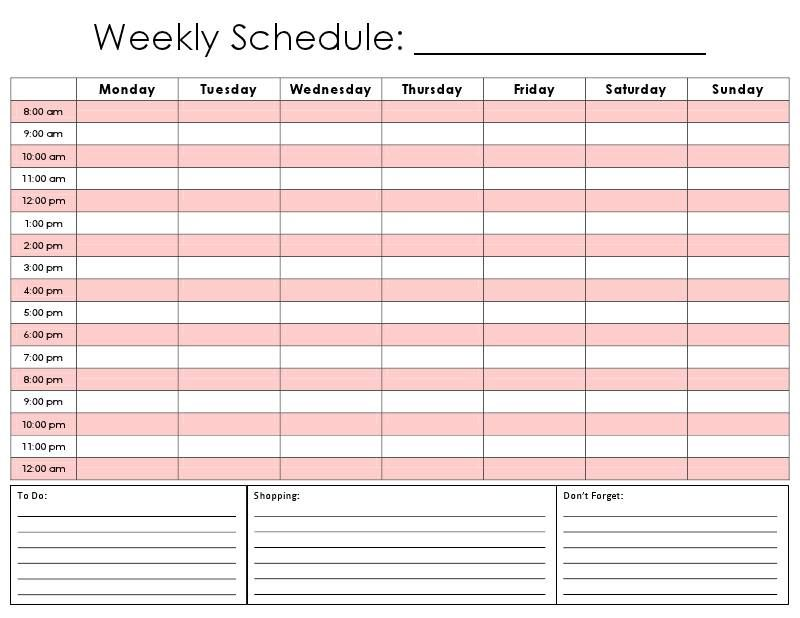 Printable Hourly Daily Calendar Template Productivity - Daily Task Calendar Template