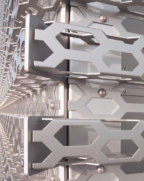 Perforated Sheet Metal To The Fore Stylepark Metal Sheet Design Sheet Metal Facade Cladding