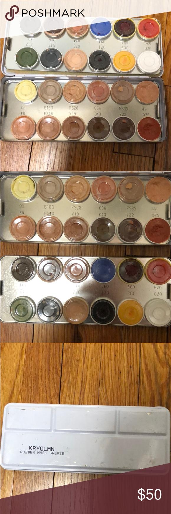 Kryolan rubber mask grease Pro makeup kryolan grease paint