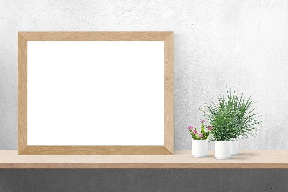 Featuring the life-changing free mockup of wall frame white poster ...