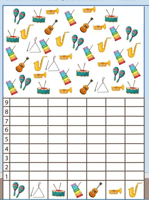 Musical Instruments Number Count Worksheet For Kids 4 Music Worksheets Music For Kids Music Math