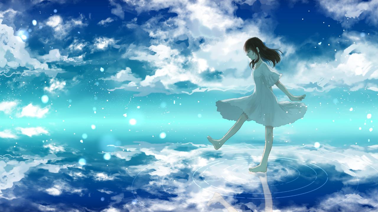 1280x7 Vocaloid Danjou Sora Long Hair Single Black Hair Wide Image Png 幻想的なイラスト イラスト 青春イラスト