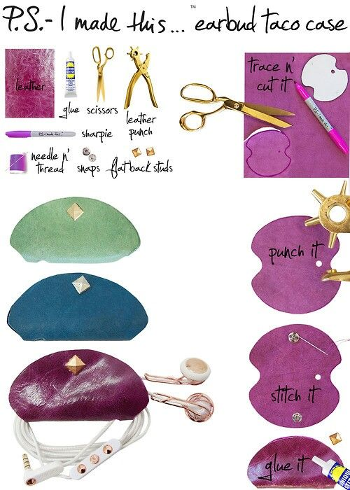 Diy Earphone Holder Leather Diy Diy Fashion Diy Bags