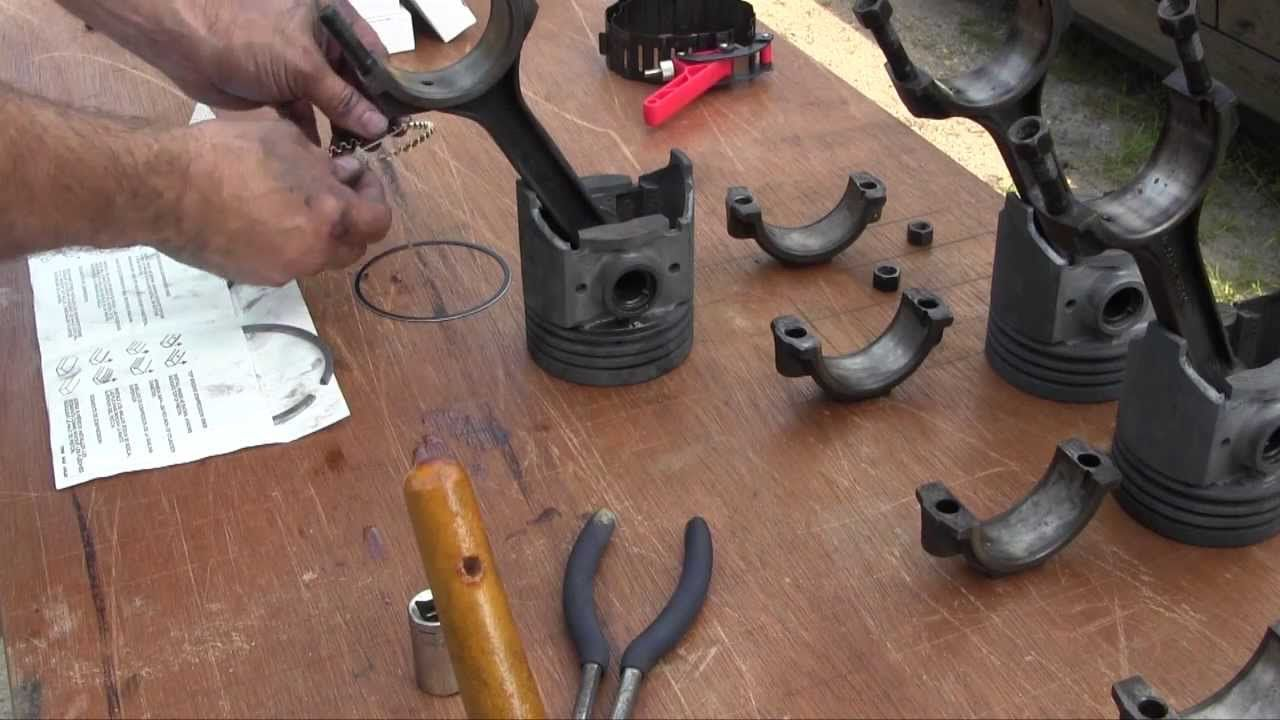 Ford Jubilee Naa Tractor Engine Rebuild Part 9 Piston Installation Engine Rebuild Ford Tractors Tractors