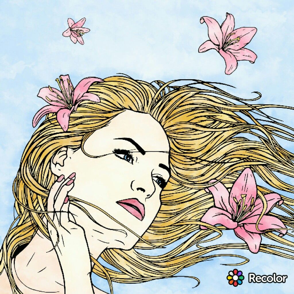 Spring breeze with Recolor | Colouring apps | Pinterest | Coloring ...