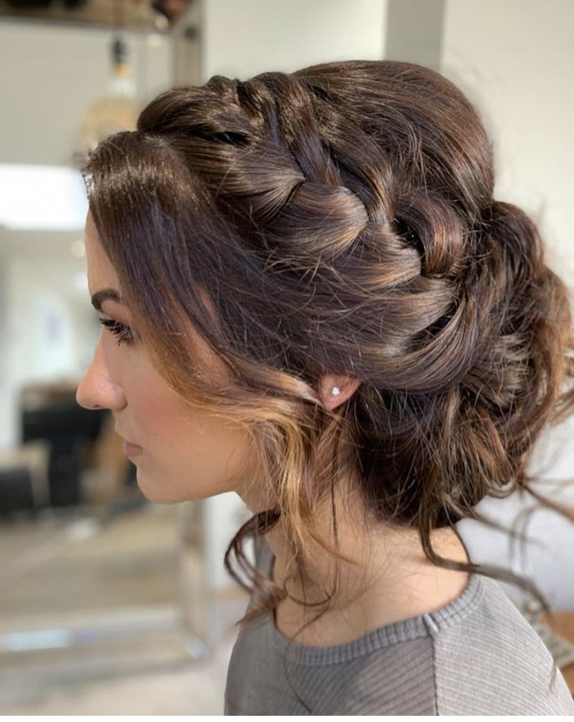 Boho Hairstyle In 2020 Bridesmaid Hair Bun Braided Bun Hairstyles Braided Hairstyles
