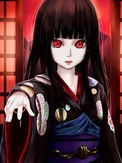 Hãy xem hình nền hoạt hình kinh dị cực đáng sợ với cô bé có đôi mắt đỏ như  máu, tàn nhẫn và đầy nguy hiểm khiến ai nhìn cũng giật mình ...
