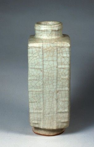 Longquan Stoneware Vase Of Archaic Jade Zong Form With