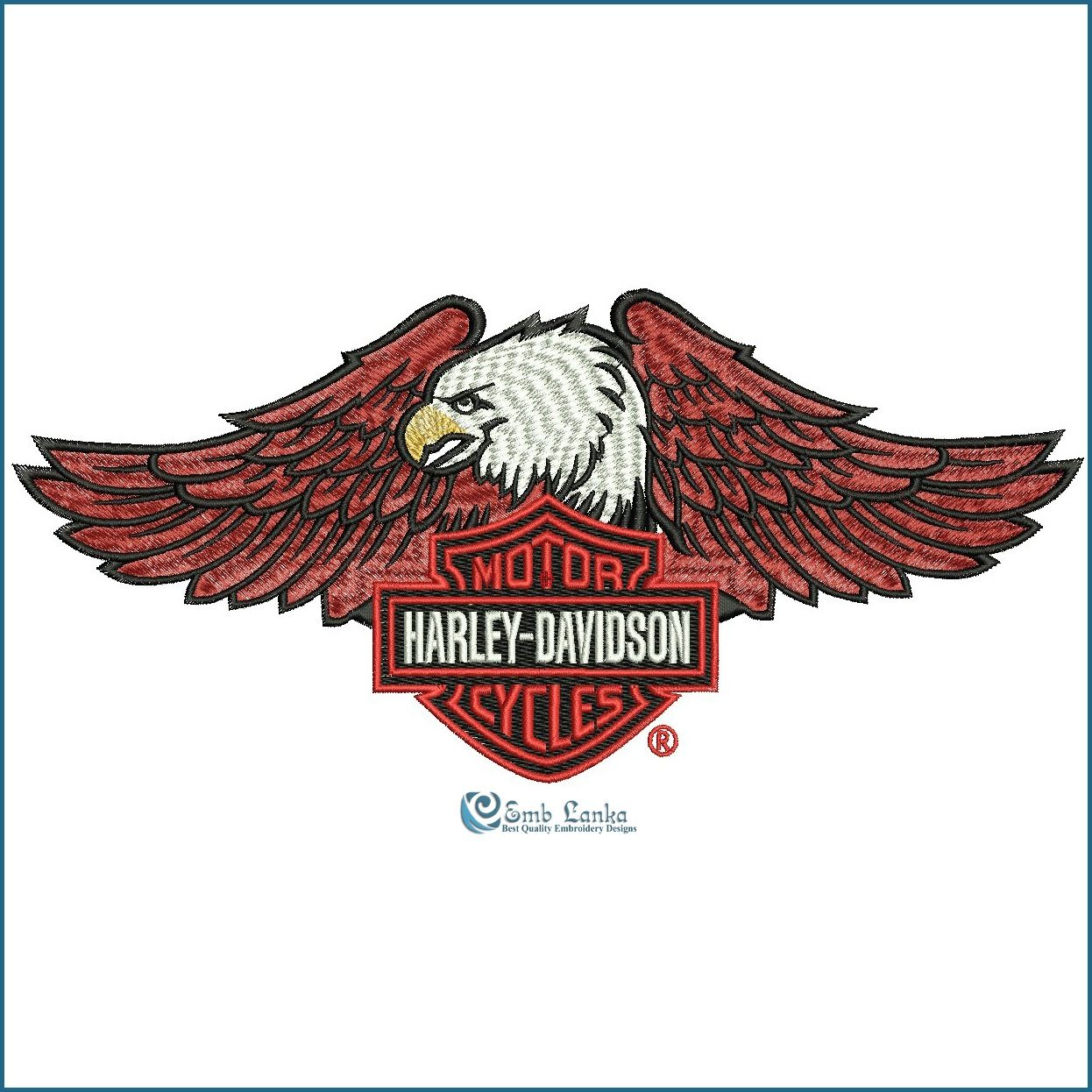 Harley Davidson Embroidery Designs Harley Davidson Embroidery
