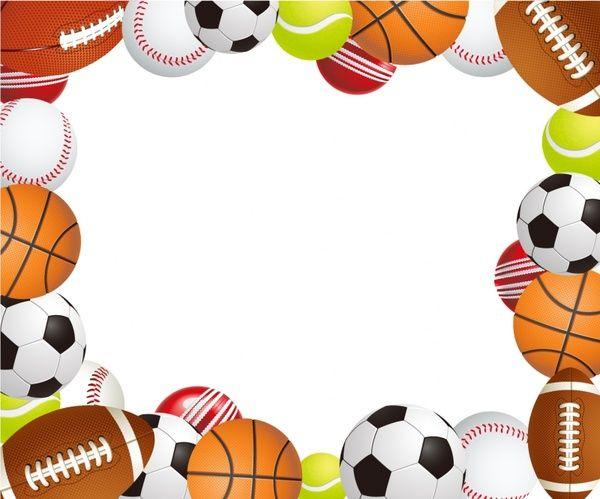 Sports Ball Frame Sports Birthday Invitations Sports Birthday Party Sports Themed Party